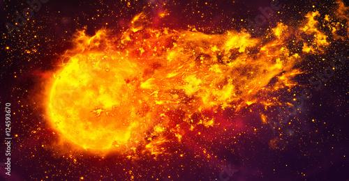 Fireball in space illustration