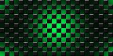 Black And Green Cubes Modern Background Illustration