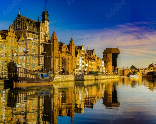 Photo sur Toile Ville sur l eau Cityscape of Gdansk in Poland