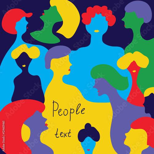 Fototapety, obrazy: People background - conceptual illustration