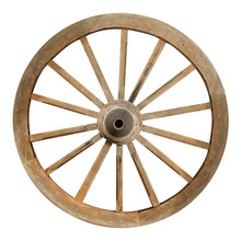 Single Wooden Cartwheel With C...