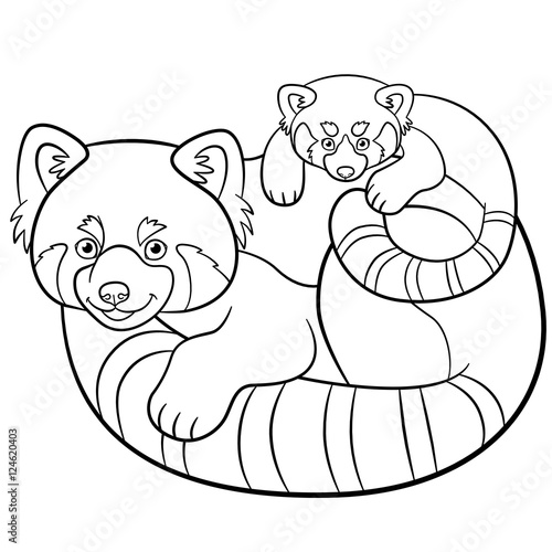 Cute Animals Coloring Pages cute baby panda pages Printable Coloring4free -  Coloring4Free.com | 500x500