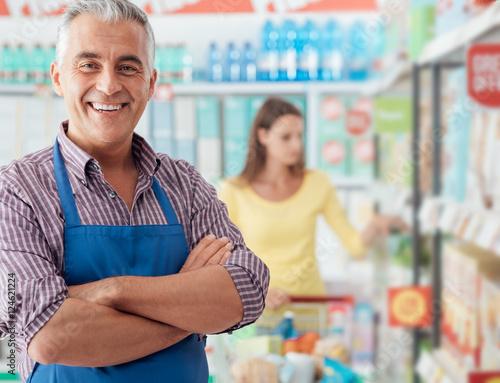 Valokuva Supermarket clerk portrait