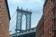 Visiting the Manhattan bridge in Brooklyn