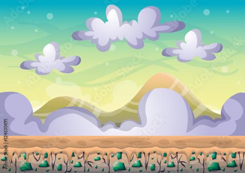 cartoon vector sky backgrou...