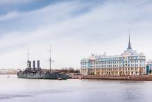 Russian Cruiser Aurora In Sain...