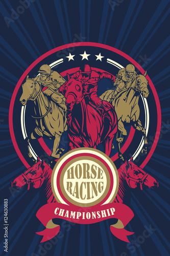 Fotomural Horse Racing Championship Poster