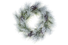 Snowy Frosted Natural Pine Christmas Wreath