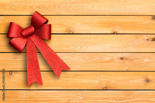 Fotografie, Obraz  Stylish festive red Christmas ribbon
