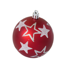 Christmas Red Ball Isolated On The Background