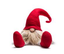 Sitzender Roter Weihnachtswichtel