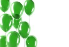 Party Green Balloons