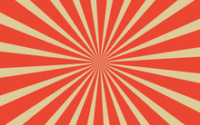 Vintage Red Radial Lines Backg...
