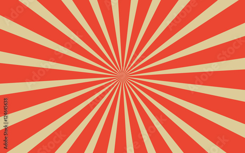 Photo  Vintage red radial lines background