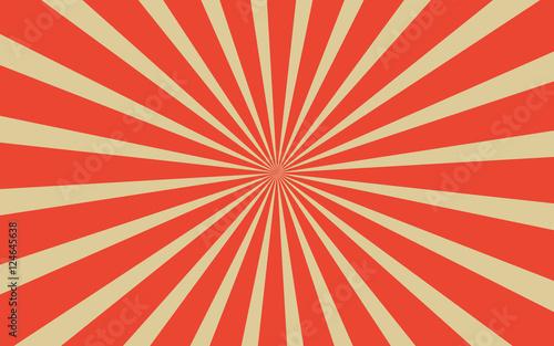 Vintage red radial lines background Wallpaper Mural