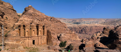 Panorama of Petra Monastery (Jordan)