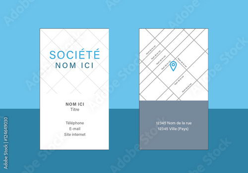 Carte De Visite Simple Buy This Stock Template And Explore
