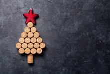 Wine Corks Shaped Christmas Tree