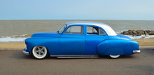 Customized Blue Vintage Car O...