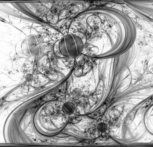 Abstract Fractal Pattern On Black