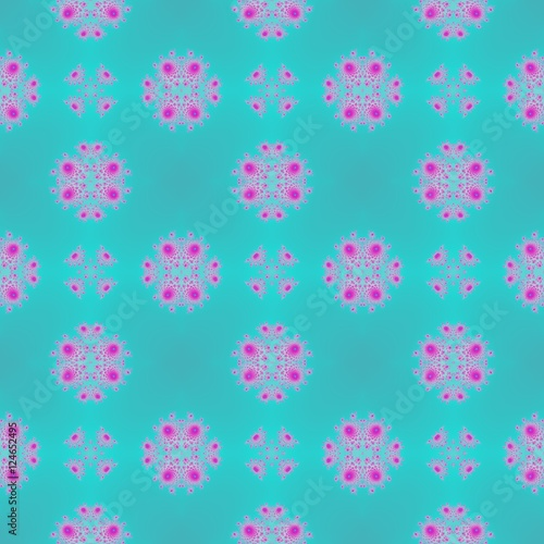 Fotografie, Obraz  Seamless turquoise pastel soft design wallpaper pattern