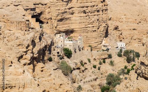 Photo  St George Orthodox Monastery, located in Wadi Qelt, Israel