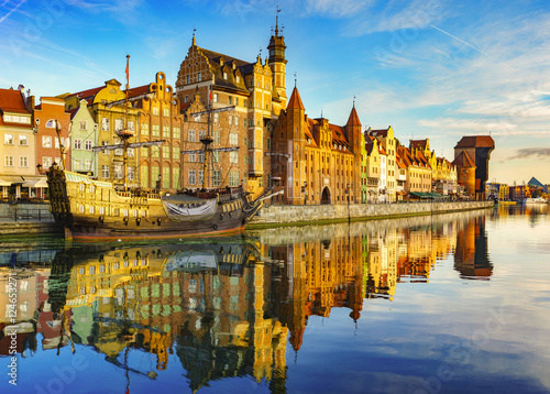 Printed kitchen splashbacks City on the water Cityscape of Gdansk in Poland