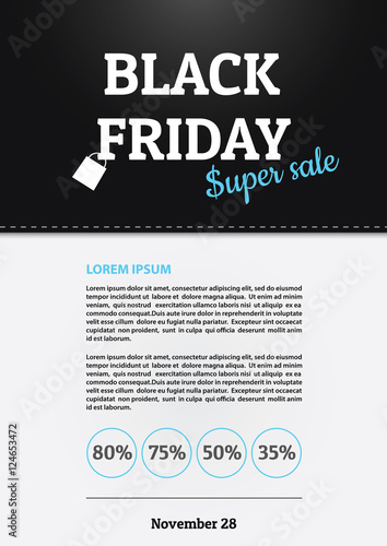 black friday sale promo poster template buy this stock vector and