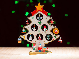 Christmas gifts on tree for decoration