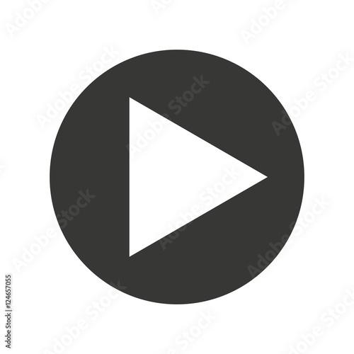 Fotografie, Obraz  play movie button flat icon vector illustration design