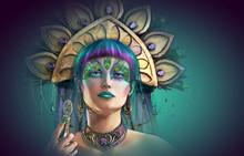 Peacock Fantasy, 3d CG