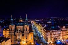 View Of Prague Rooftops In Old Town Prague, Czech Republich