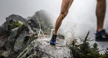 Runner Puddle Splash On Ridgeline