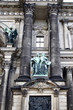Close up view of sculptures on facade of Berliner Dom in Germany