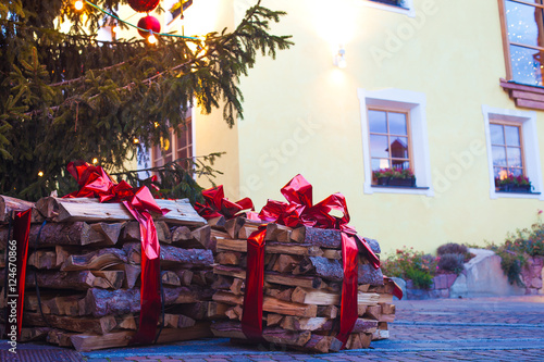 Fotografie, Obraz  Beautiful view of Ortisei streets in Christmas