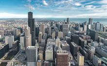 Chicago Downtown Skyline Aeria...