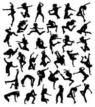 Hip Hop Dancing Collection, Illustration Art Vector Design
