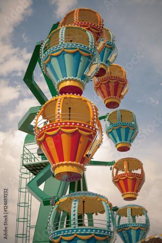 In de dag Amusementspark Ferris wheel