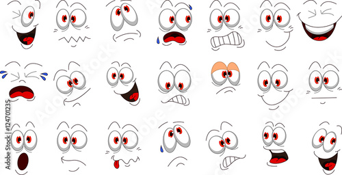 Cartoon face emotions set for you design
