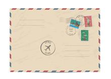 Blank Postal Envelope With Pos...