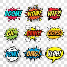 Vector Comic Speech Bubbles Se...