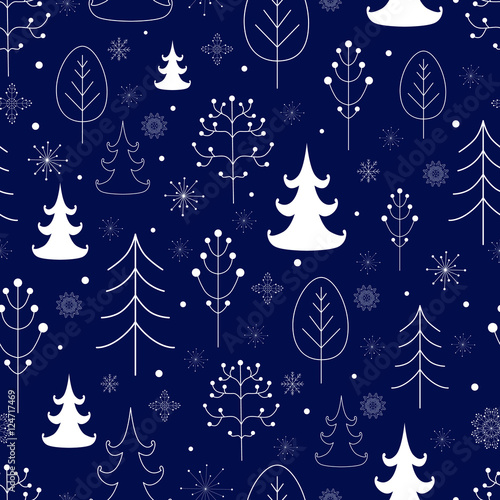 Stoffe zum Nähen Winter Wald Hintergrund