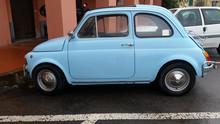 Vintage Small Blue Car