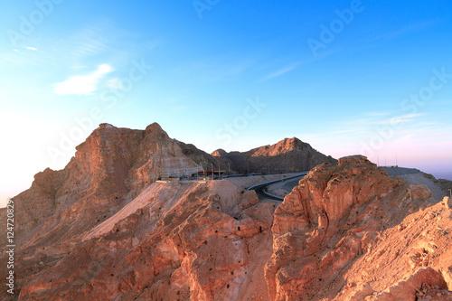Tuinposter Beautiful Morning view of Jebel Hafeet in Al ain, Abu Dhabi.