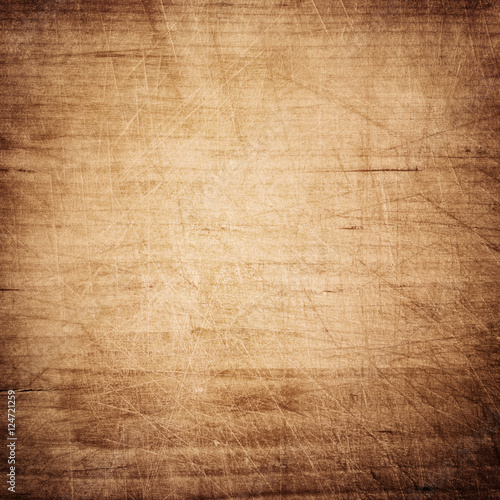 Tuinposter Hout Brow wooden plank, tabletop, floor surface or chopping, cutting board.