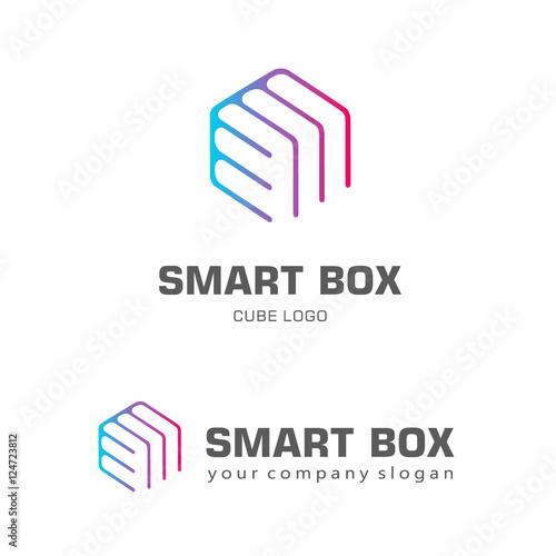 Logo template hexagon design. Smart box – kaufen Sie diese ...