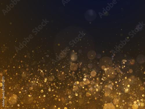 Photo  Gold Glittering Bokeh Glamour Background.