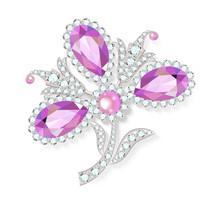 Delicate Flower Gemstones Broo...