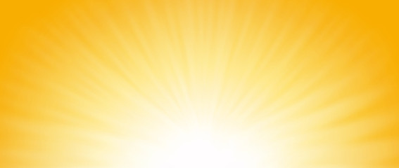 Shiny sun lights, abstract summer background and banner design.
