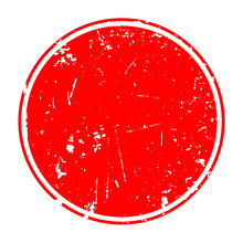 Grunge Red Blank Rubber Stamp ...